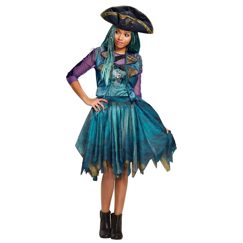 Disney Descendants Uma Classic Isle Girls' Costume S, Multicolored