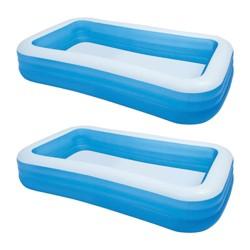 Intex Swim Center 72in x 120in Rectangular Inflatable Swimming Pool, 2 Pack