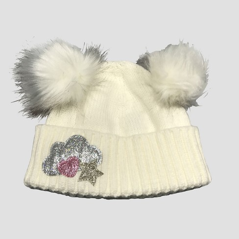 Baby Girls' Beanie - Cat & Jack™ White 12-24M - image 1 of 1