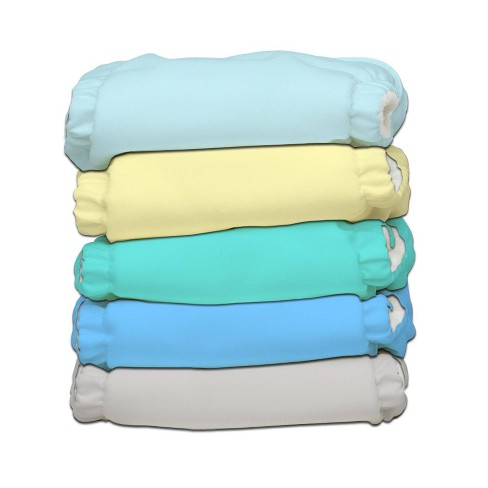 Charlie Banana 5pk Reusable All-in-One My First Cloth Diapers - Pastel - image 1 of 4