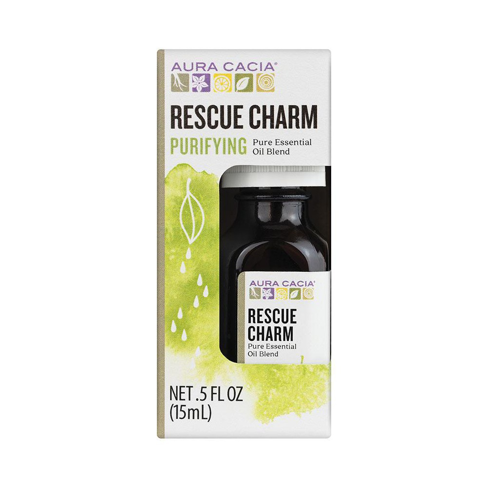 Image of Aura Cacia Rescue Charm Essential Oil Blend - .5oz