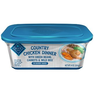 Blue Buffalo Country Chicken Dinner with Green Beans, Carrots & Wild Rice - Wet Dog Food - 8oz