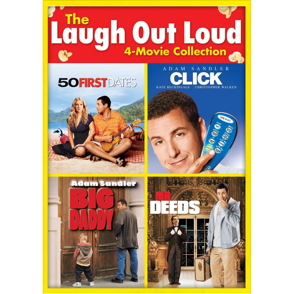 The Laugh Out Loud 4 Movie Collection 50 First Dates Big Daddy Click Mr Deeds Dvd