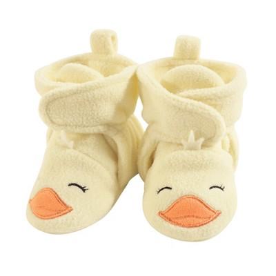Hudson Baby Baby and Toddler Cozy Fleece Booties, Yellow Duck