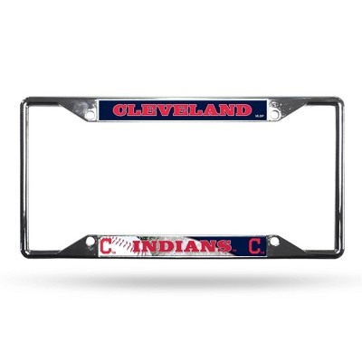 MLB Cleveland Indians View Chrome License Plate Frame