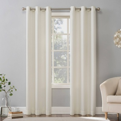 Sora Casual Textured Light Filtering Grommet Top Curtain Panel - No. 918