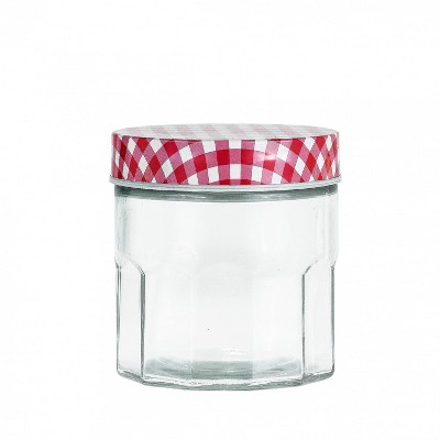 Amici Home Farmstead Glass Canister Red, Small, 28oz