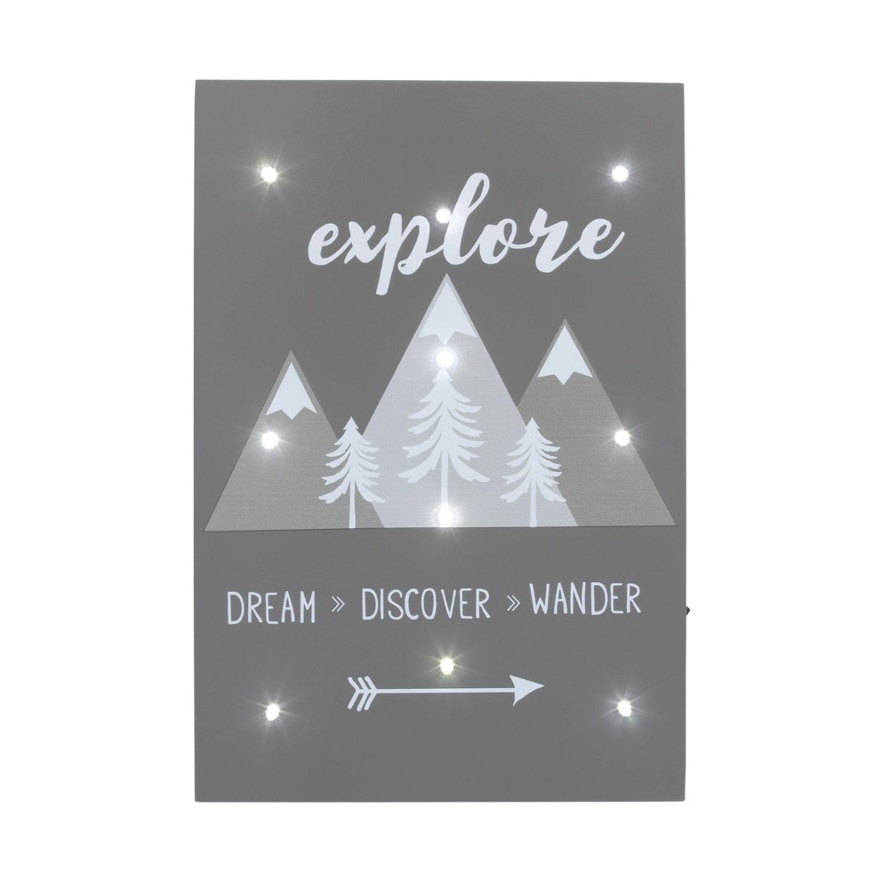 Image of NoJo Little Love Explore Lighted Wall Decor