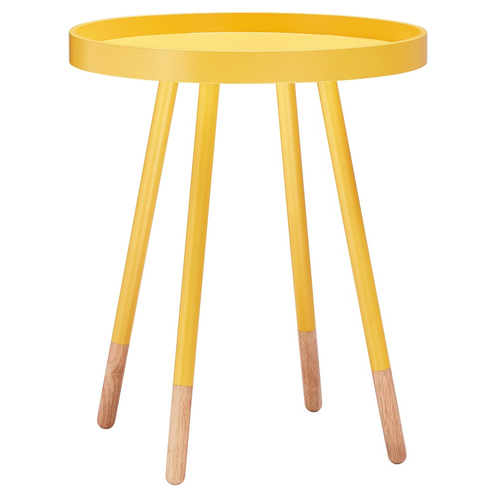 Image of Olcott Mid Century Tray Top Accent Table - Yellow - Inspire Q