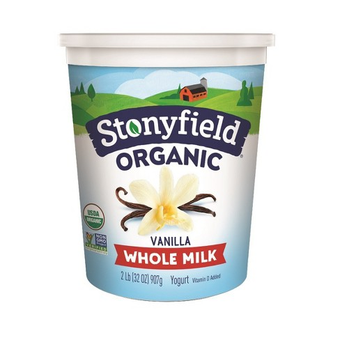 Stonyfield Organic Smooth & Creamy French Vanilla Whole Milk Yogurt - 32oz - image 1 of 1