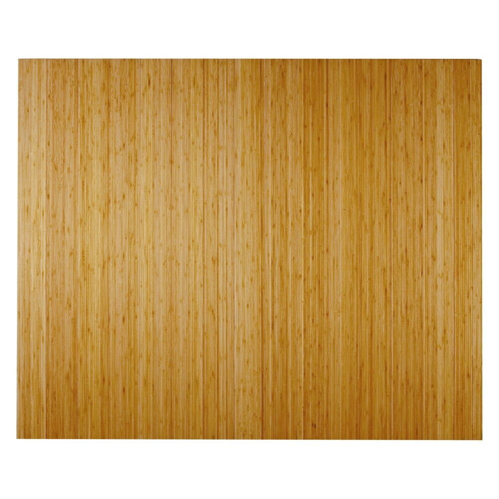 3'5X4' Bamboo Deluxe Roll-Up Chairmat With No Lip Neutral - Anji Mountain