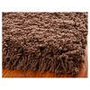 Chocolate Solid Shag and Flokati Tufted Accent Rug 3'X5' - Safavieh - image 2 of 2