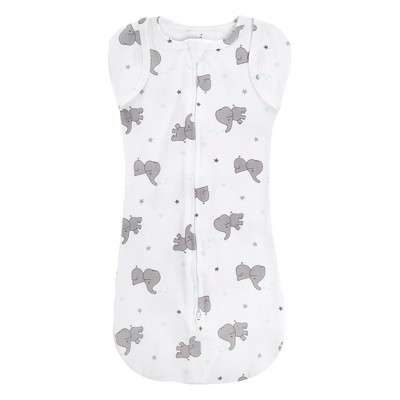 Aden by Aden + Anais Snug Swaddle - Baby Elephant - White