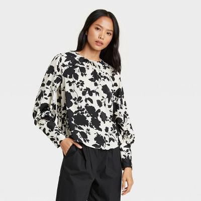 Women's  Balloon Long Sleeve High Cuff Blouse - Who What Wear™