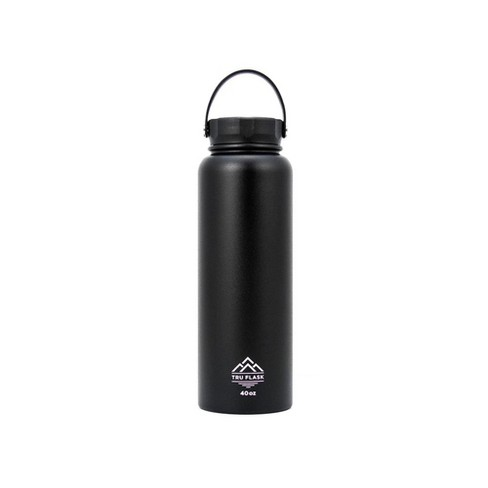 TruFlask Stainless Steel Double Walled 40 oz Insulated Water Bottle, Black - image 1 of 1