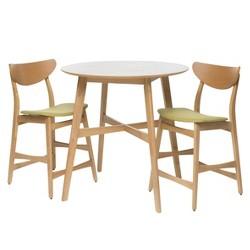 "Gavin 36"" Counter Height Dining Set - Natural Oak/Green Tea - Christopher Knight Home"