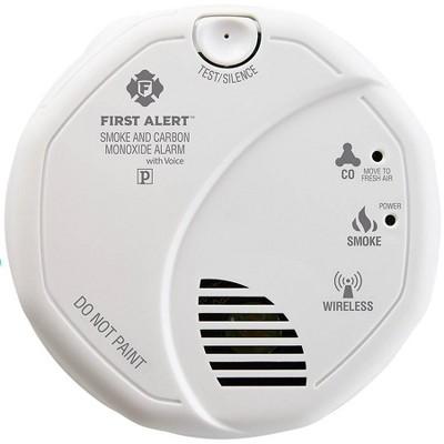 Safe & Sound Smart Smoke/Carbon Monoxide Alarm with Speaker White - First Alert