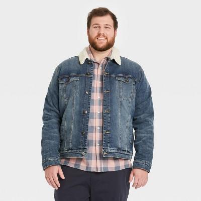 Men's Big & Tall Sherpa Denim Jacket - Goodfellow & Co™ Blue