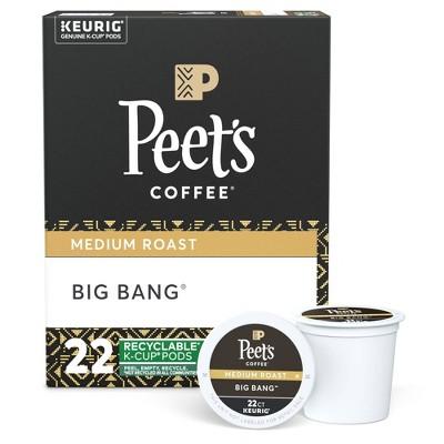 Peet's Big Bang Medium Roast Coffee - Keurig K-Cup Pods - 22ct