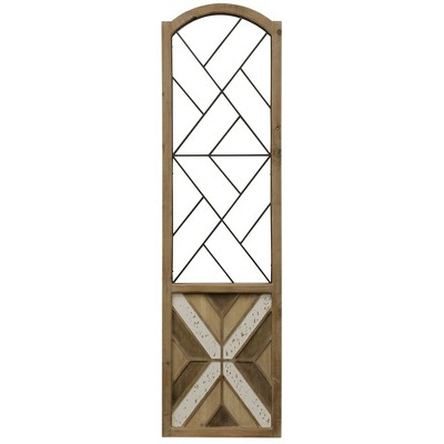 "70.25"" Traditional Arch Aspire Scroll Metal and Wood Decorative Wall Art - StyleCraft"