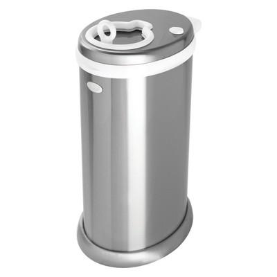 Ubbi Metallic Diaper Pail - Silver