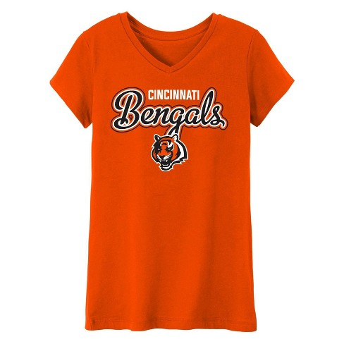 b5be80ad NFL Cincinnati Bengals Girls' In the Game V-Neck T-Shirt