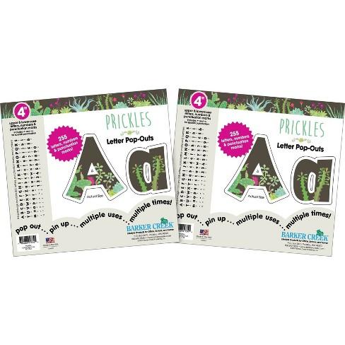 """Barker Creek 4"""" 2pk Prickles Letter Pop Out 510 Characters - image 1 of 3"""