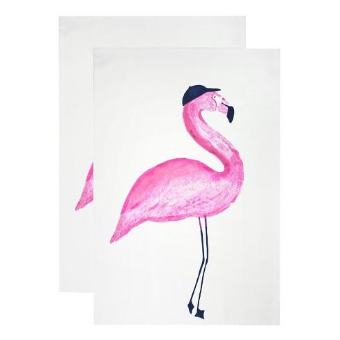 Flamingo Designer Towel Set Pink 20 X30 Mu Target