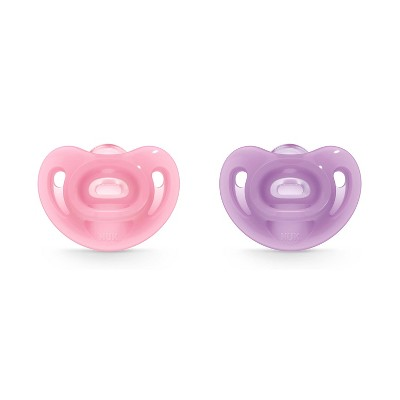 NUK Pacifier 2pk Sz1 Sensitive - Pink