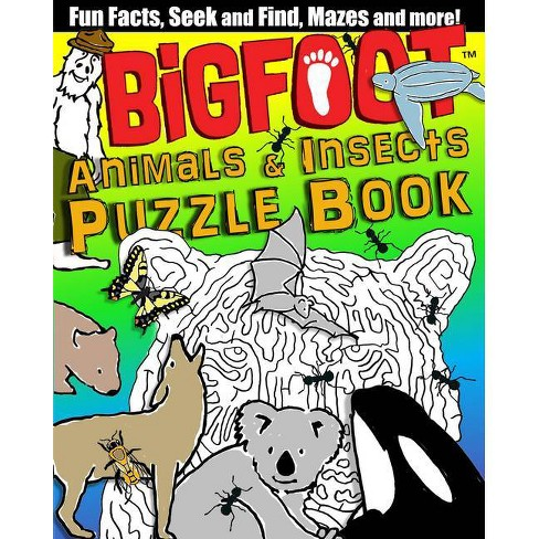 Bigfoot Animals & Insects Puzzle Book - by  D L Miller (Paperback) - image 1 of 1