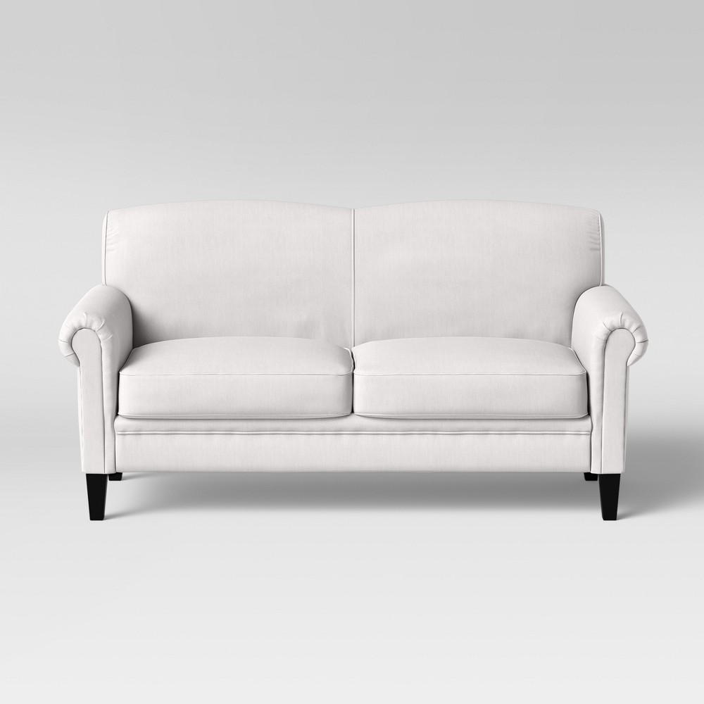 Belmont Rolled Arm Sofa Cream (Ivory) - Threshold