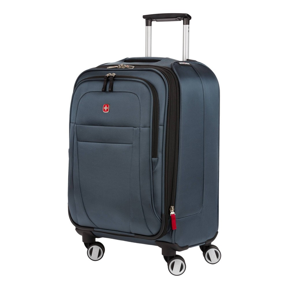SWISSGEAR 20 Zurich Carry On Suitcase - Blue, Gray was $99.99 now $49.99 (50.0% off)