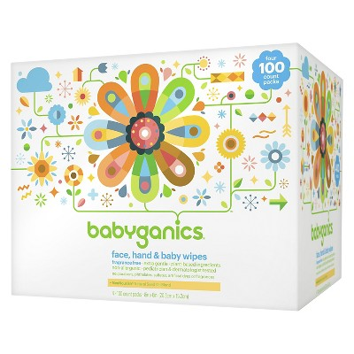 Babyganics Face, Hand & Baby Wipes, Fragrance Free - 400ct