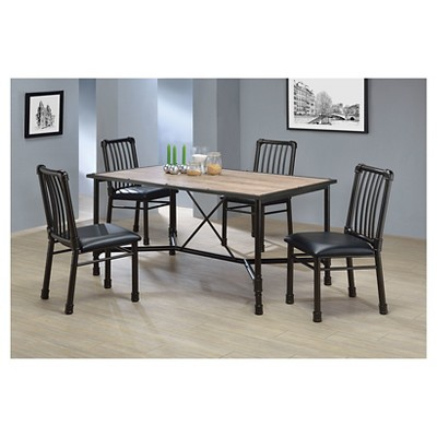 Caitlin Dining Table   Rustic Oak And Black   Acme : Target