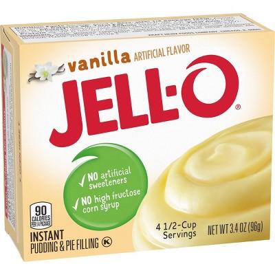 JELL-O Instant Vanilla Pudding & Pie Filling - 3.4oz
