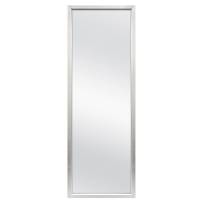"24"" x 68"" Rectangle Leaner Floor Mirror Silver - Threshold™"