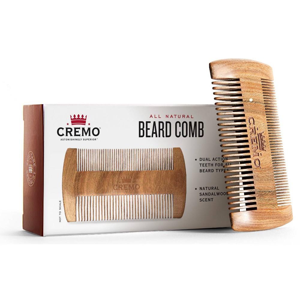 Image of Cremo Premium Dual-Sided Sandalwood Beard Comb - Static & Snag Free - 1ct