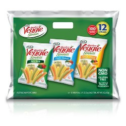 Sensible Portions Veggie Straws Vegetable and Potato Snacks Multipack - 12ct