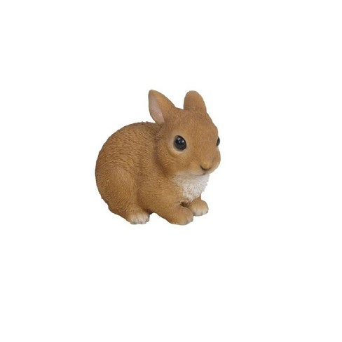 "4"" Polyresin Small Sitting Rabbit Outdoor Statue Brown - Hi-Line Gift - image 1 of 2"