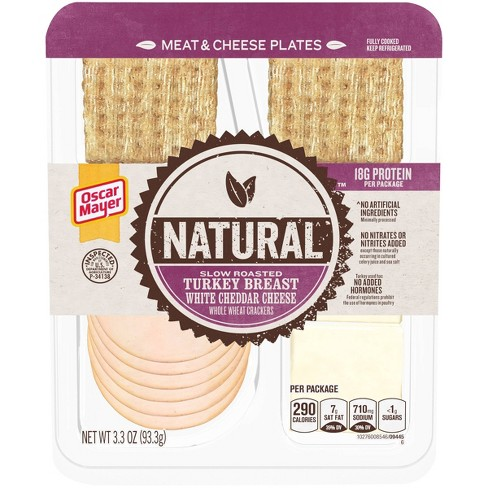 Oscar Mayer Natural Plate with Turkey, White Cheddar and Crackers - 3.3oz - image 1 of 3