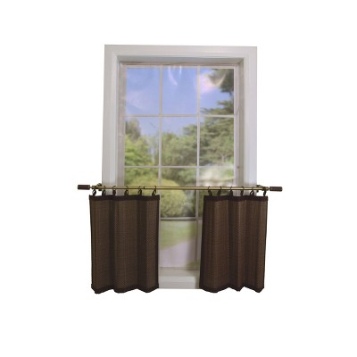Set of 2 Bamboo RingTop Tier Brown - Versailles Home Fashions