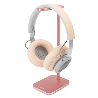 Insten Desk Headphone Stand & Holder Compatible with AirPods Max, Beats, Bose, Sony Wireless & All Gaming Headsets, Rose Gold