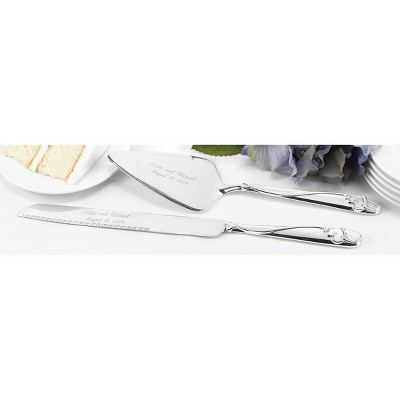 Graceful Heart Wedding Cake Serving Set