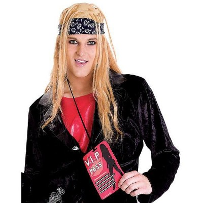 Paper Magic Group Rock Lover Adult Costume Wig