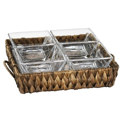 Artland® Garden Terrace Square 5pc Serving Tray With Handles