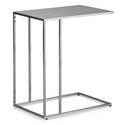 "20"" Daley C Side Table Stainless Steel - WyndenHall"