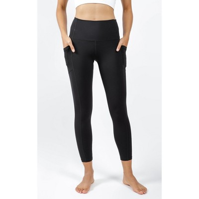 90 Degree By Reflex - Women's High Waist Ultralink Elastic Free Side Pocket Ankle Length Leggings