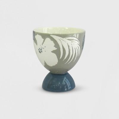 4  Stoneware Novelty Pedestal Planter Floral - Opalhouse™
