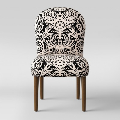 Caracara Rounded Back Dining Chair Black And White Floral - Opalhouse™