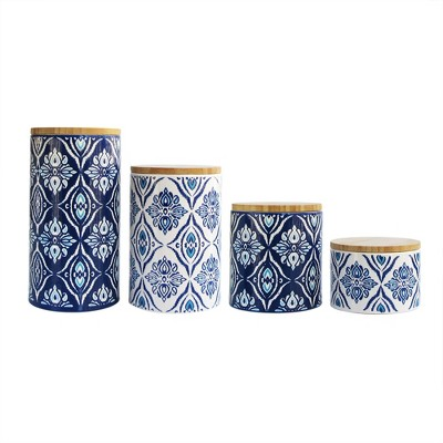 American Atelier 4pc Pirouette Canister Set Blue/White